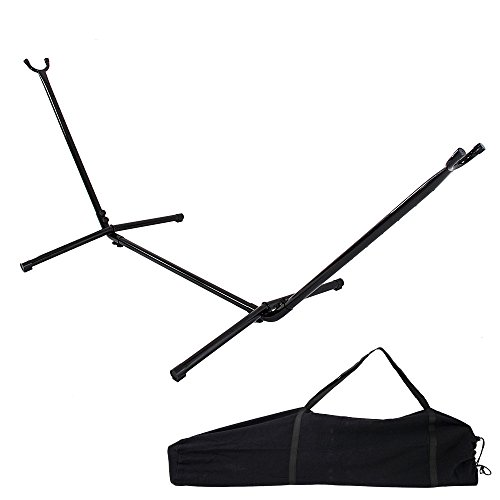 Z ZTDM 9FT Hammock Stand Only Black Heavy Duty Indoor Outdoor Universal Space Saving Steel with Carrying Case 450 Pounds Capacity