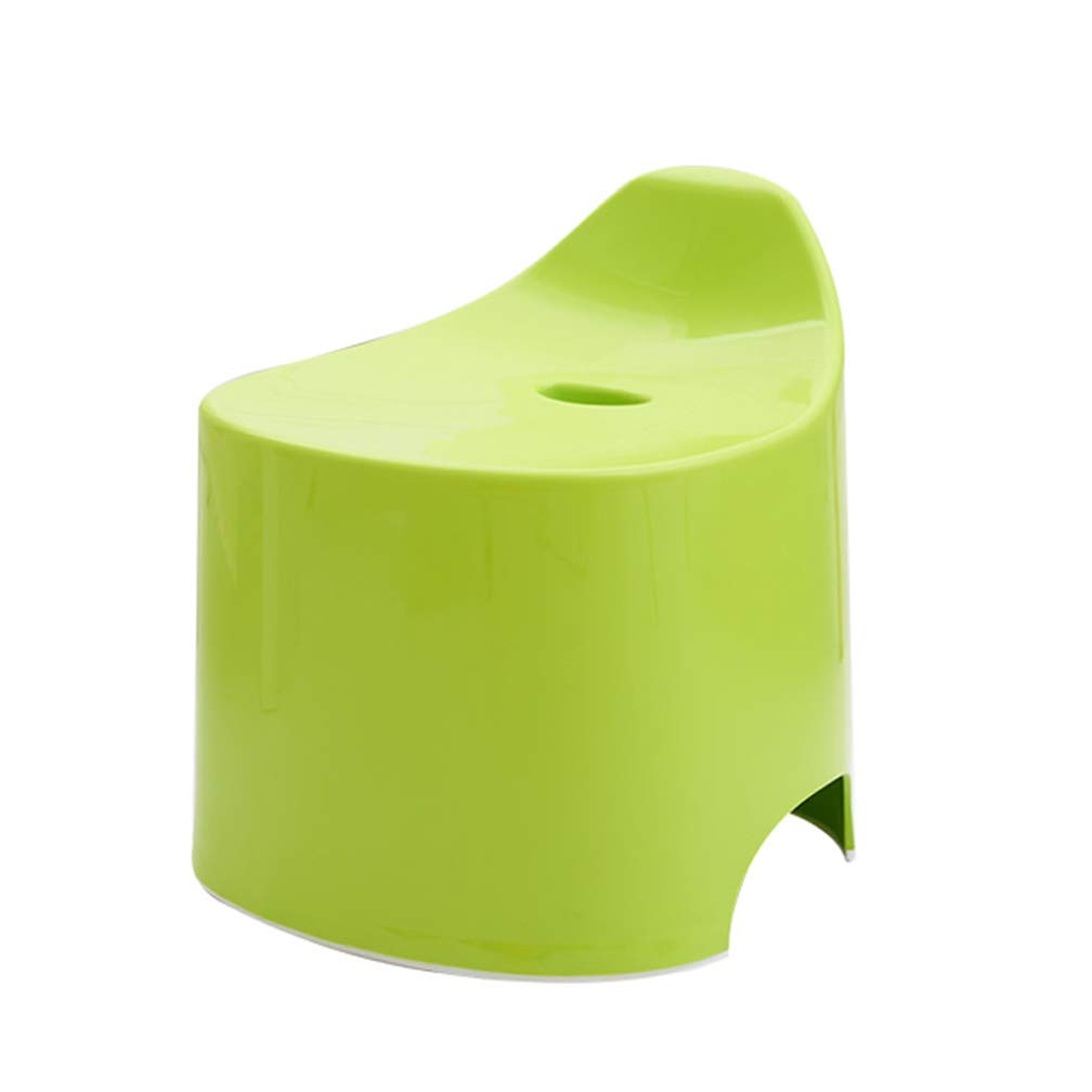 Gf Foot Stool for Baby Kids Plastic Small Seat Non Slip Bathroom Living Room Ascend High Use Shoe Changing Stool (Color : Green)
