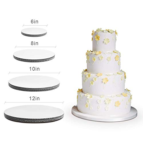(Cake Board Rounds - Cake Boards, White Round Cake Circle base - 6,8, 10 and 12 inch, 5 of each Size)