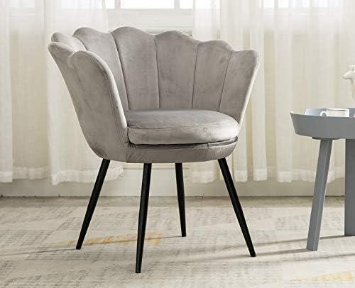 Velvet Accent Chair Black Leg Vanity Chair