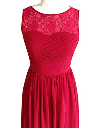 Chiffon Bridesmaid A b Dress Dress Party Long Red Lovelybride Prom Line Pink Wedding 7gYAnI