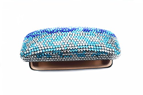 Purely Handmade Gradient Blue Bling Crystal Glasses Case ...