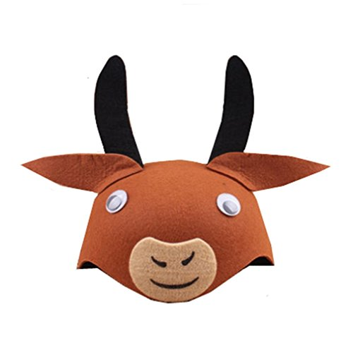 bbhoney Farm Animal Cartoon Kids Mask Hat for Cosplay Halloween Birthdays Theme Party Costume -