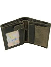 709 Oiled Leather Coin ID Holder Tri Fold Wallet