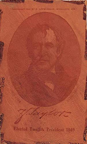 12th President Taylor Patriotic Novelty Leather Vintage Postcard AA270