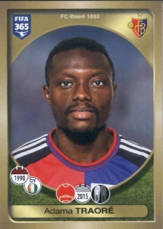 fan products of 2016-17 Panini FIFA 365 #222 Adama Traoré FC Basel 1893 Soccer Sticker