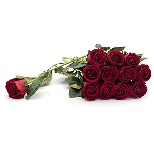 (Royal Imports Artificial Silk Roses Velvet 15