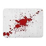 """Ptrfedss Doormats Bath Rugs Outdoor/Indoor Door Mat Blood Splatter Red Color Illustraitttion Spatter Splash Splat Stain Bathroom Decor Rug 16"""" x 24"""""""