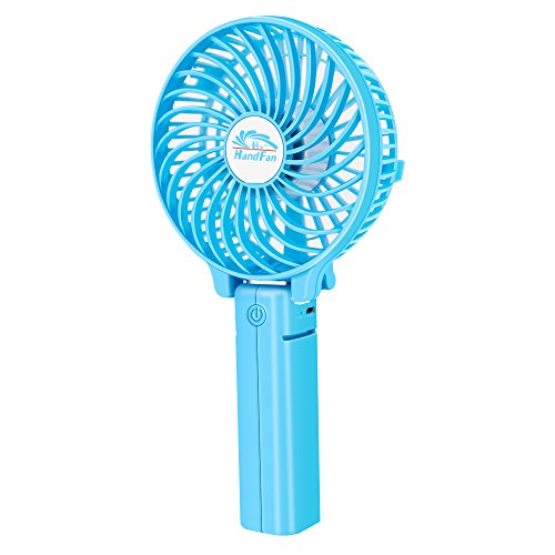 USB Fan Portable Mini Fan (Blue) - 6