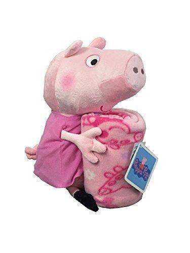 (Peppa Pig Pillow Pal Hugger Plush with Fleece Throw Blanket)