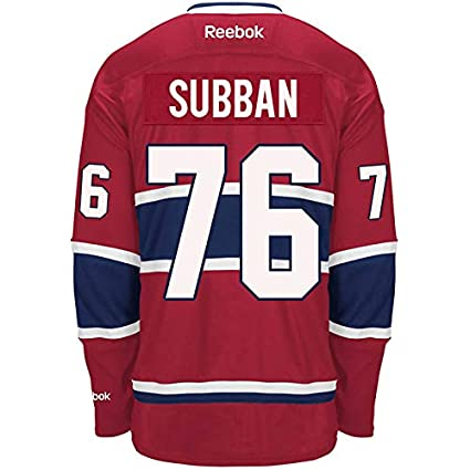 reputable site e2366 f7961 Men's P.K. Subban Montreal Canadiens NHL Premier Home Jersey ...