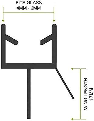 Home Standard® - Junta para mamparas de ducha (grosor de vidrio 4-6 mm, longitud de ala, 14 mm, espacio para sellar, 12 – 14 mm): Amazon.es: Bricolaje y herramientas