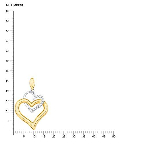 Amor - Collier - Or jaune - Oxyde de Zirconium - 45 cm - 569651