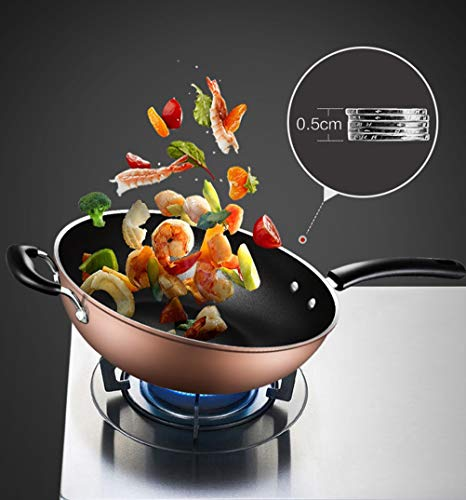 WYQSZ Wok - Home less oil fume wok multi-function durable wok -fry pan 2365 (Design : A) by WYQSZ (Image #4)