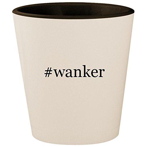 #wanker - Hashtag White Outer & Black Inner Ceramic 1.5oz Shot Glass ()
