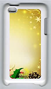 iPod 4 Case, iPod 4 Cases - Merry Xmas PC Polycarbonate Hard Case Back Cover for iPod 4¨CWhite