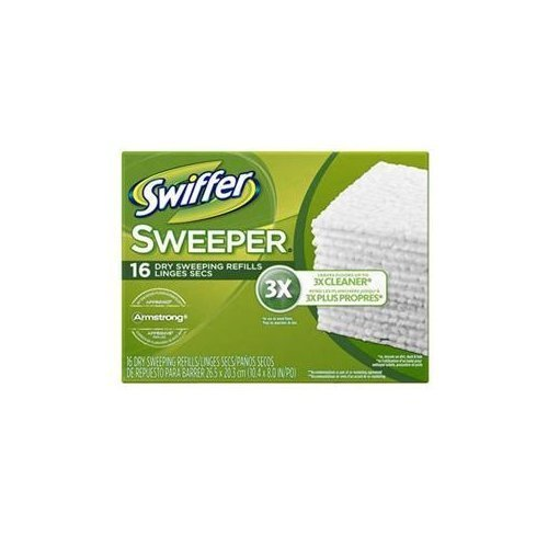 Swiffer Dry Sweeping Disposable Cloths 16 Count ( Case of 12 )