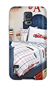 2015 High Grade Flexible Tpu Case For Galaxy S5 - Blue Boy8217s Bed And Transportation-themed Bedding 3739257K97459791