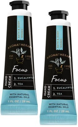Bath and Body Works 2 Pack Aromatherapy Focus Eucalyptus Tea Hand Cream. 1 oz