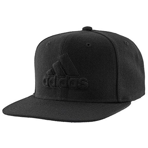 adidas Mens Daybreaker Flat Brim Snapback Cap, black/black, One Size