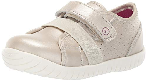 Stride Rite Kids' SR Tech Riley Sneaker, Beige, 6 Medium US Toddler - Dark Beige Footwear
