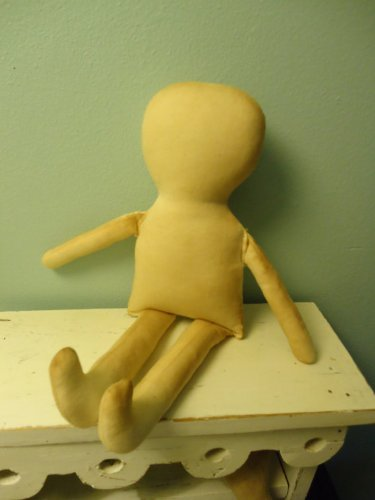 Primitive 15'' TEA STAINED Muslin Doll Body-form-blank-cloth Rag doll-katiesdolls-craft supply