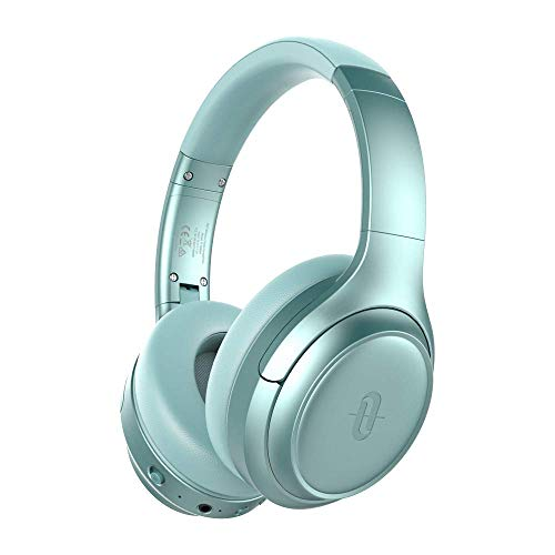 TaoTronics Active Noise Cancelling Headphones [2019 Upgrade] Bluetooth Headphones Over Ear Headphones Hi-Fi Sound Deep Bass, Quick Charge(Renewed) (Fresh Mint)