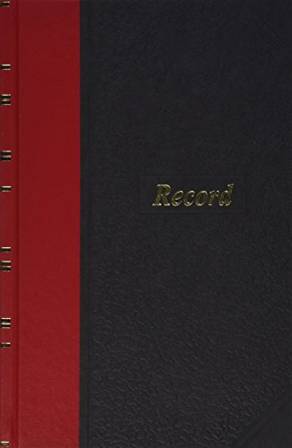 Boorum & Pease 96304 Record/Account Book, Black/Red Cover, 144 Pages, 5 1/4 x 7 7/8 Red Account Books