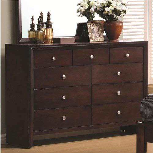 - Serenity 9-Drawer Dresser Rich Merlot