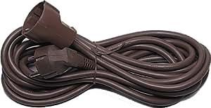 Protección de contacto-Extensión de cable, marrón, 5m