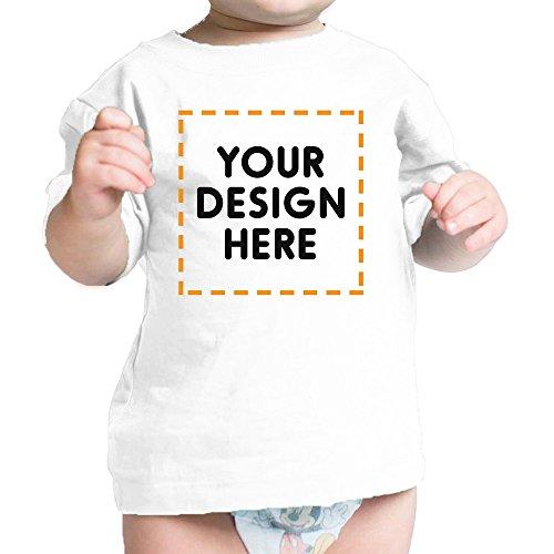 Custom Baby Shirt - 365 Printing Your Design Here Custom White Baby T-Shirt Personalized Baby Gifts