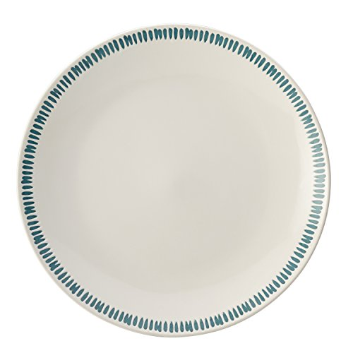 (Rachael Ray Cucina Sun Daisy Dinnerware 10.75-Inch Stoneware Dinner Plate, Agave)