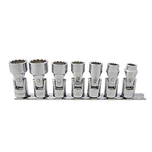 - Kobalt 7-Piece SAE 3/8-in Drive 12-Point Flex Socket Set