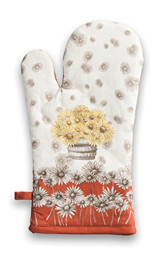 Maison d' Hermine Bagatelle 100% Cotton Oven Mitt, 7.5-Inch by 13-Inch.