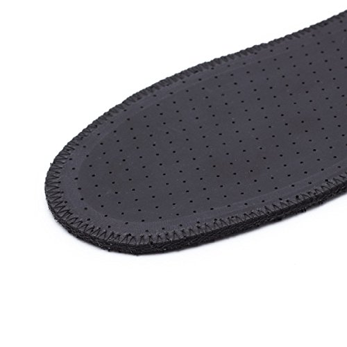 LAMBAA Natural Summer Black Terry Cloth Insoles, Soft, Flexible, Fresh Barefoot Terry Cotton Shoe Insoles (2 Pairs, 9 Women US) by LAMBAA (Image #5)