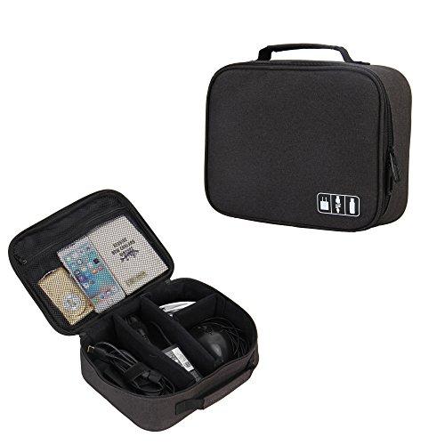 Veevan Accesorio del Viaje Portable para Organizador Eletrónico Negro