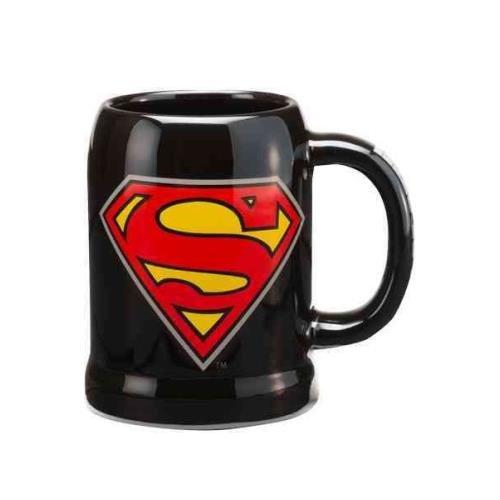 (Superman Logo 20oz Ceramic Stein)