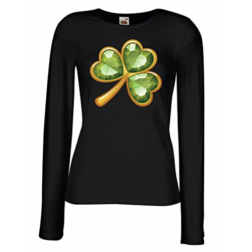t-shirts-for-women-long-sleeve-irish-shamrock-st-patricks-day-clothing-small-black-multi-color