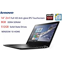 2017 Lenovo Flex 4 14 2-in-1 Full HD Anti-glare IPS Touchscreen Notebook 7th Gen Intel i7-7500U 8GB DDR4 512GB SSD AMD Radeon R5 M430