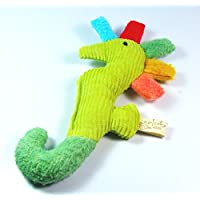 Organic Cotton Baby Rattle Seahorse Infant Toy Rainbow Color Teether