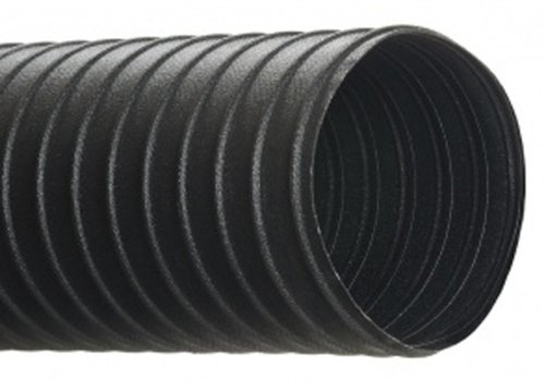 Air Cld (Hi-Tech Duravent CLD Light-Duty Series Neoprene Coated Fabric & Steel Duct Hose, for Use with Air, Black, 3