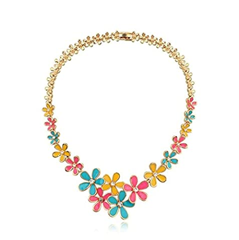 Adisaer Gold Plated Pendant Necklaces for Women Cubic Zirconia Flower Colorful - Sixteen Lamp Chandelier
