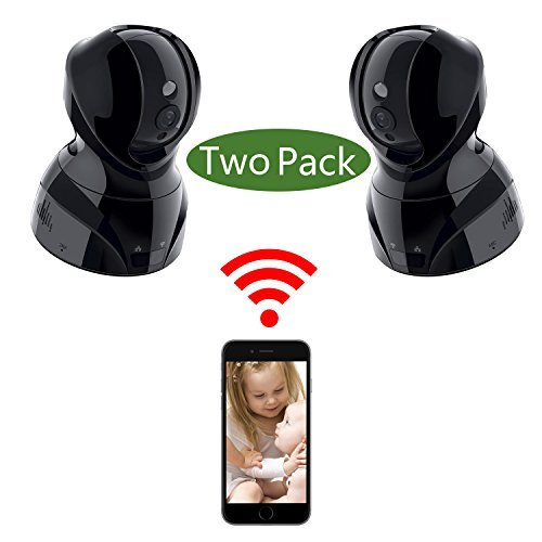NexGadget Security Wireless 720P HD IP Camera System with Two Way Audio, Night Vision, Pan & Tilt, Motion Detection, 2 Pack