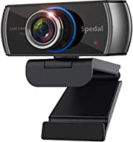 Spedal HD Webcam with Stereo Microphone, 1080P H.264 720-Degree Wide Angle Face Cam Twitch, Face Time, Skype, Zoom, OBS...