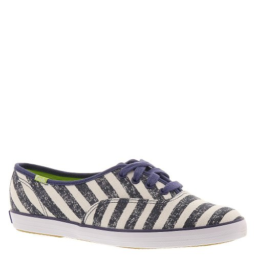 Keds Womens Champion Washed Stripe, Navy, 6 M US