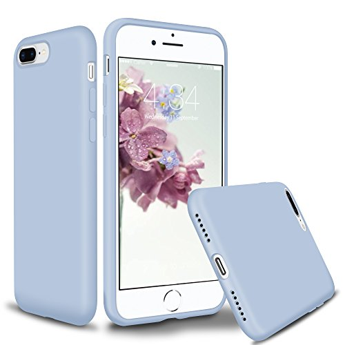 (SURPHY Silicone Case for iPhone 8 Plus iPhone 7 Plus Case, Slim Liquid Silicone Protective Phone Case Cover (Full Body Thin Case, Microfiber Lining) for iPhone 7 Plus iPhone 8 Plus 5.5