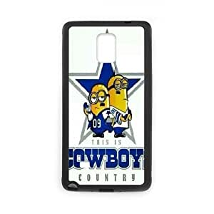 Dallas Cowboys Series, Samsung Galaxy Note 4 Cases, Dallas Cowboys Country Cute Cases for Samsung Galaxy Note 4 [Black]
