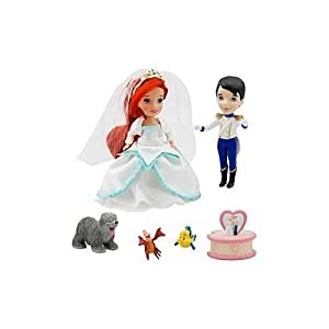 ''Once Upon a Wedding'' Disney Princess Darlings Doll Set - Ariel and Prince Eric