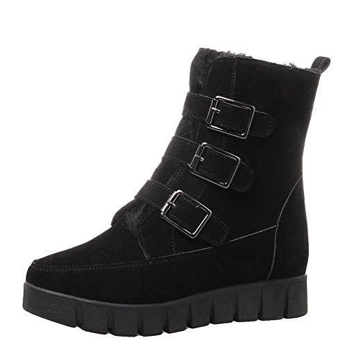 Stivali Shoes Basso Donna Interna Mee Piattaforma Tacco Calda Neri 0qHaBx1