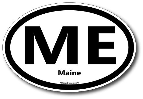 ME Maine Car Magnet US State Oval Refrigerator Locker SUV Heavy Duty Waterproof